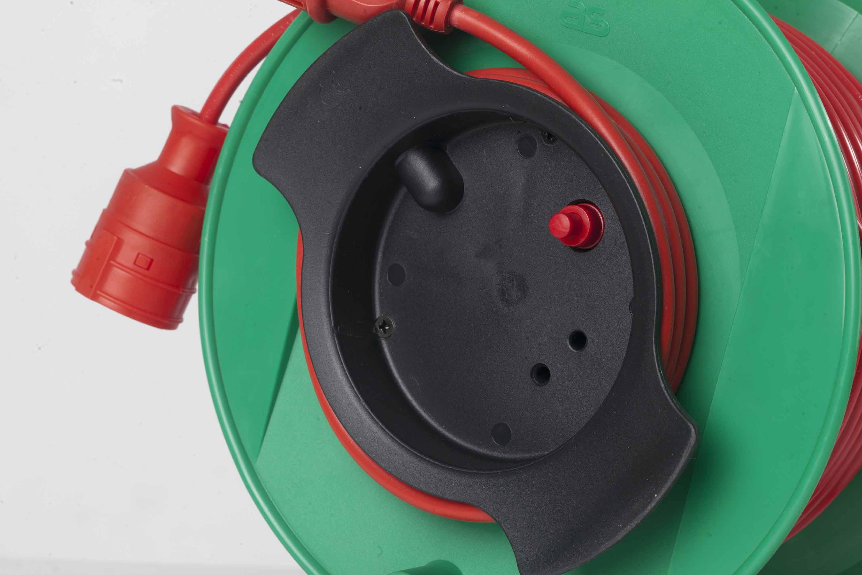 Schwabe 12323 Sicherheits-Gerätetrommel 230mmØ grün as 25m H05VV-F 3G1,5